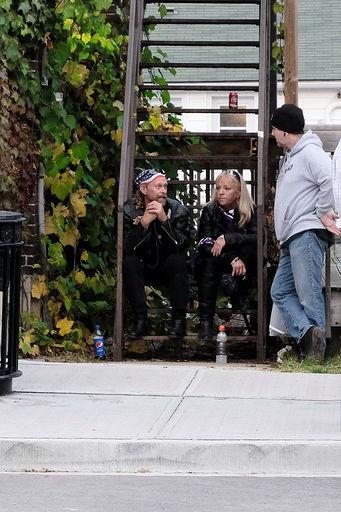 street side chatting