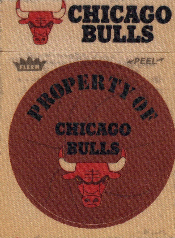 1974-75 Fleer Cloth Stickers Chicago Bulls (1)