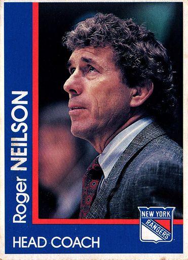 1989-90 Marine Midland New York Rangers Roger Neilson (1)