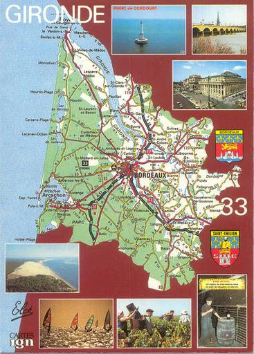 Gironde Map (33)