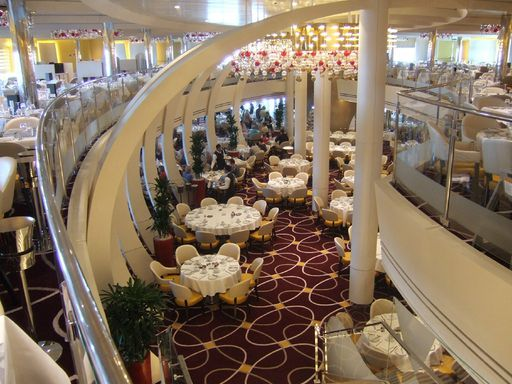 Looking Down to Deck 2 of the Dining Room
