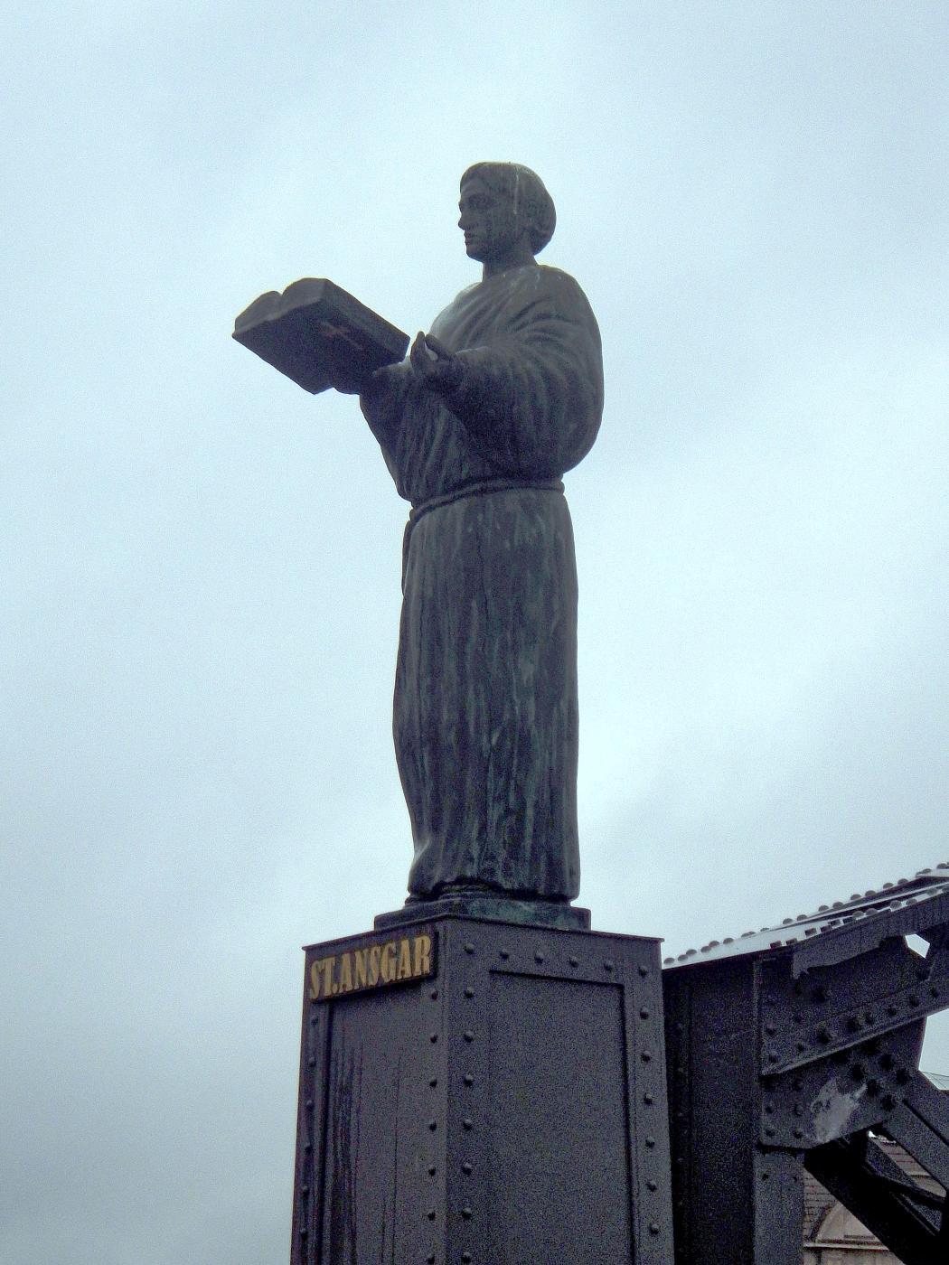 St. Angar-Skulptur Brooksbrücke