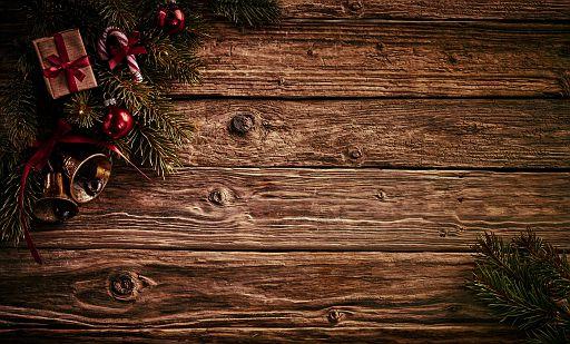 Old vintage Christmas decoration background