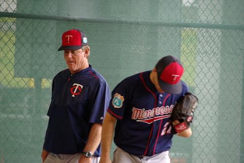 IMGP9735.JPG- Pitching coach Neil Allen with Brandon Kintzler