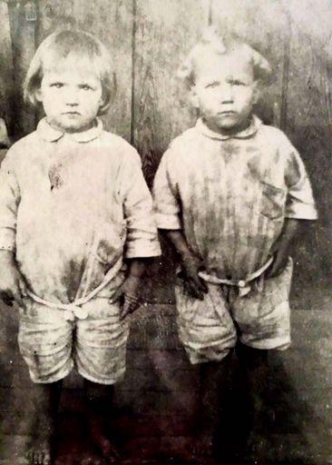 #15 Wilda Hutson and Willie Hutson, Twins