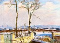 The Station at Moret-sur-Loing in the Snow [1888]