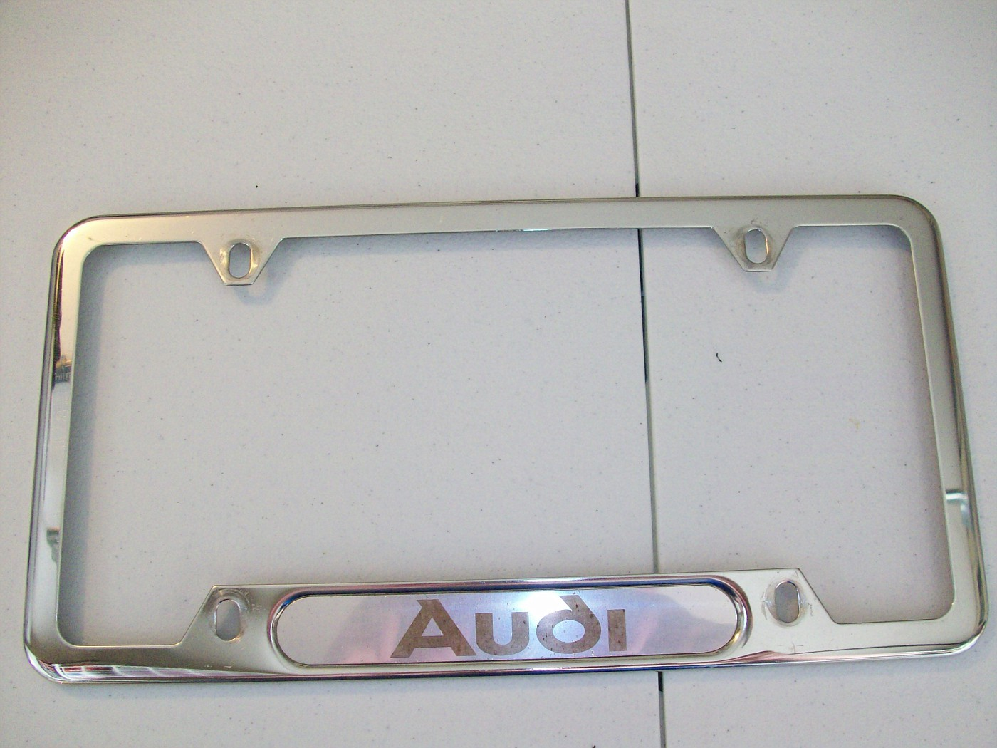 $Shipping Audi License Plate Frame - used