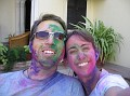 Troy and Shelly on Holi Day