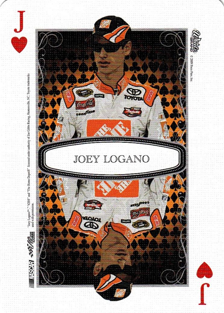 2009 Wheels Main Event Playing Card Joey Logano