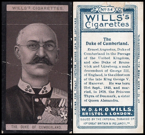 1908 Wills European Royalty #054