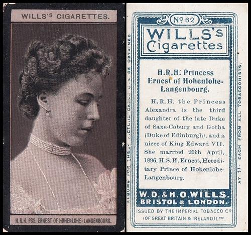 1908 Wills European Royalty #062