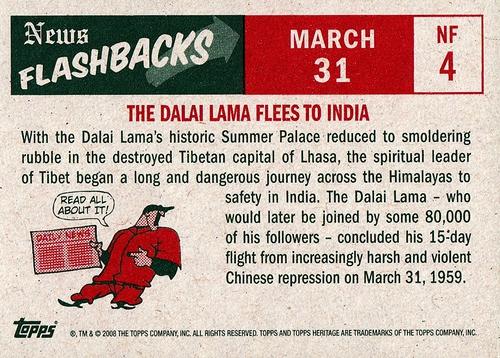 2008 Topps Heritage 1959 News Flashbacks #NF-04 (2)