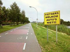 Fietsers welkom - Auto's niet!