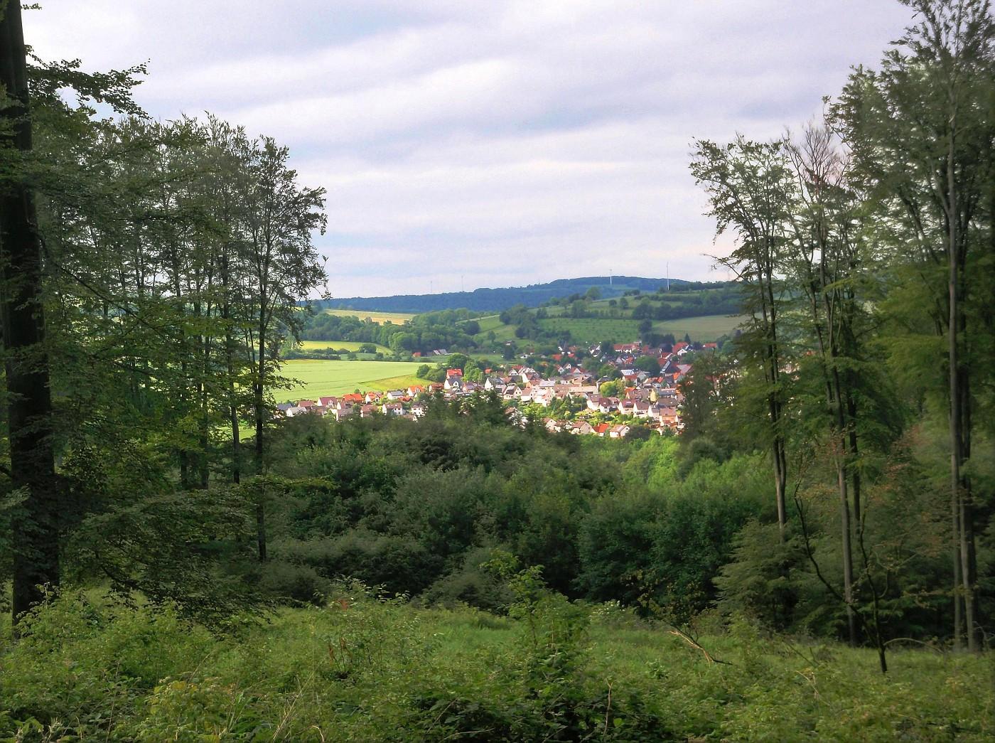 Blick aufs lippische Dorf