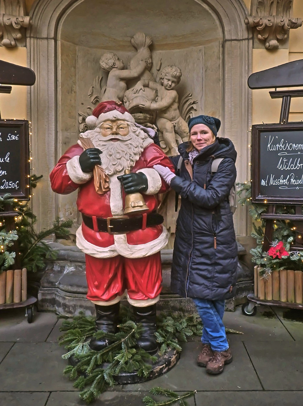 Weihnachtsmann an der Frauenkirche