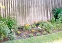 Flowers near fence in Scott & Debra's backyard