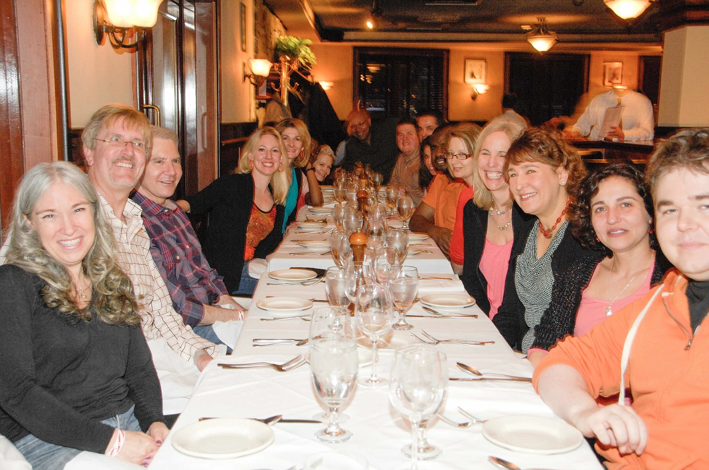 Group dinner at Boston Tea Party 2013