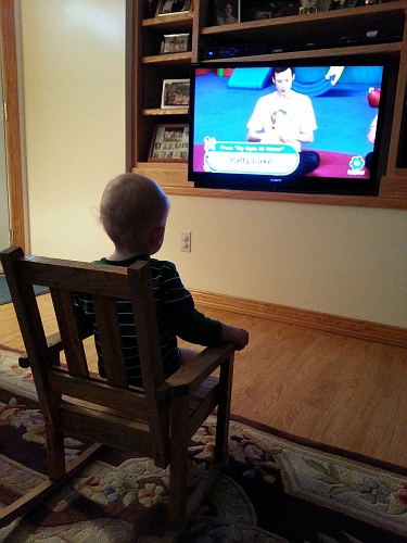 Silas watching TV-3