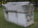a sarcophagus from the jewish cemetery