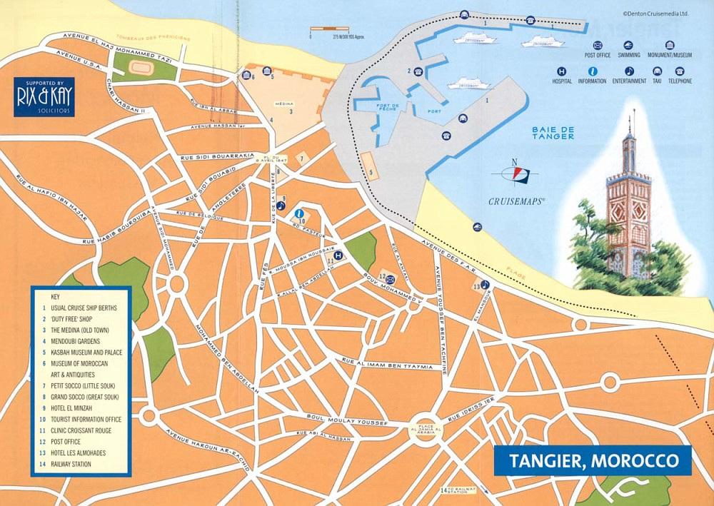 Map of Tangier - We didn't get here
