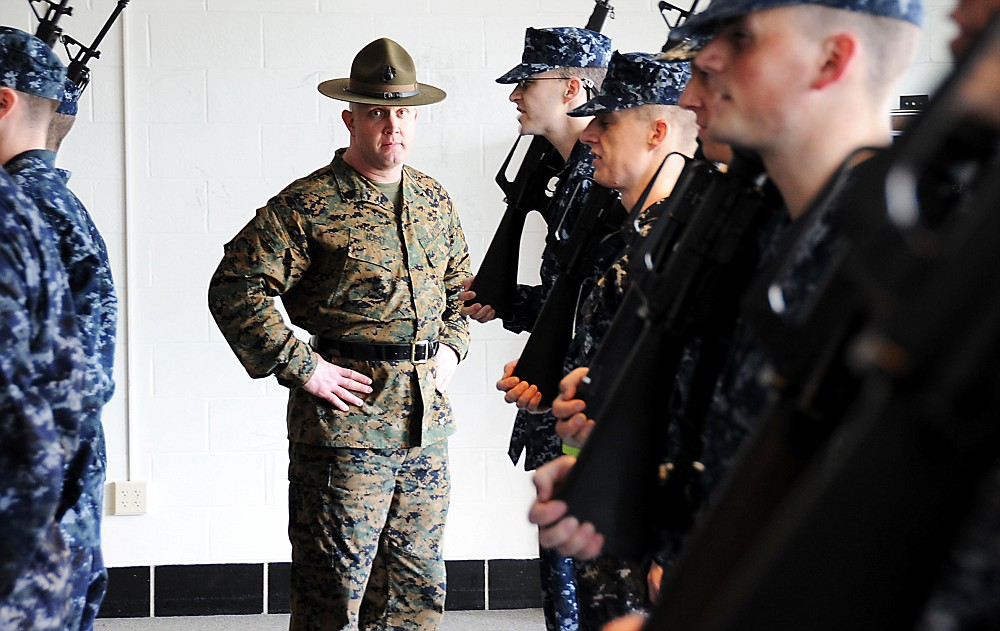 Marine Corps sergeants mold officers at Officer Training Command