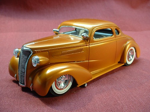 37 Chevy 5 Window Coupe Under Glass Model Cars