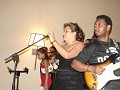Sophia Martelly performing with her husband