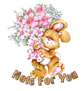 Note For You - BunnyWithFlowers