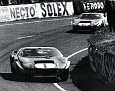 1965 Le Mans with the two Mk 2s led the field before,encountering gearbox troubles.