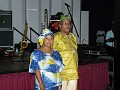 Very costume for the Caribbean festival. Paul Leger and a nice participant.