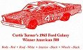 1965 Curtis Turner Harvest Ford  Ref  109