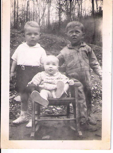81-Aunt Pat, Uncle Del and Jim Chambers (cousin)