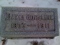 David Gorsline grave, Summit Cemetery, Williamston, Ingham County, Michigan. Photo from Stephen Barneby, Ancestry.com.